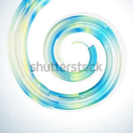 Absztrakt technológia spirál bokeh fény háttér Stock fotó © OlgaYakovenko