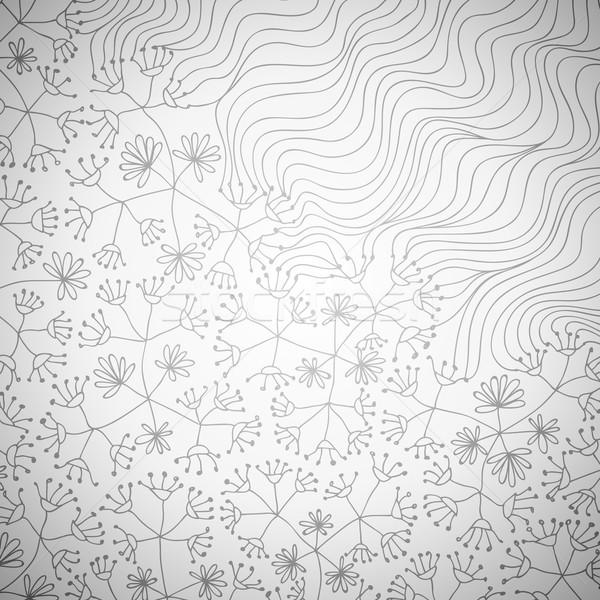 Karalama çiçekler dalgalar vektör eps8 örnek Stok fotoğraf © oliopi