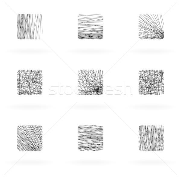 Gryzmolić elementy zestaw projektu wektora eps8 Zdjęcia stock © oliopi