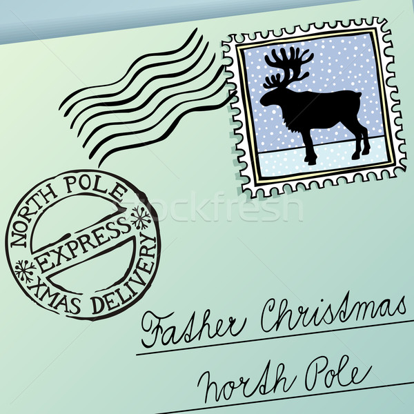 Christmas brief vader vector eps8 illustratie Stockfoto © oliopi