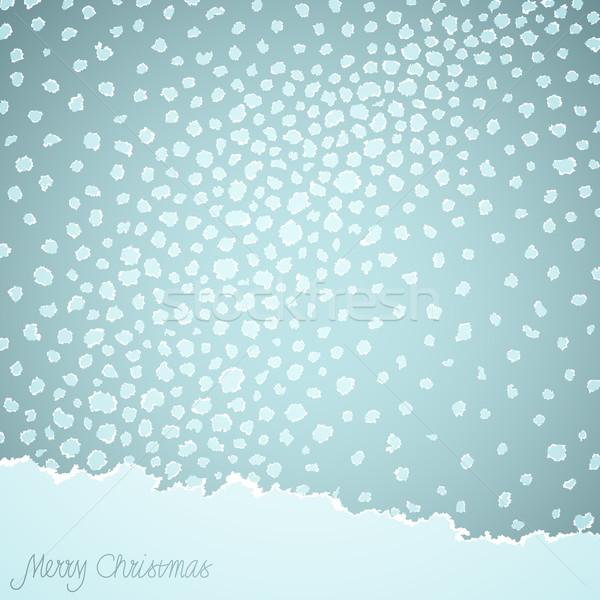 Stock fotó: Karácsony · vektor · szakadt · papír · textúra · boldog · természet