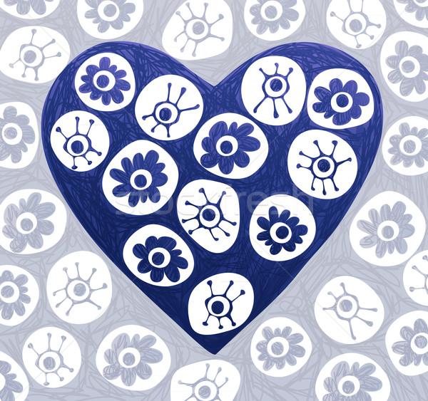 Doodle Heart Stock photo © oliopi