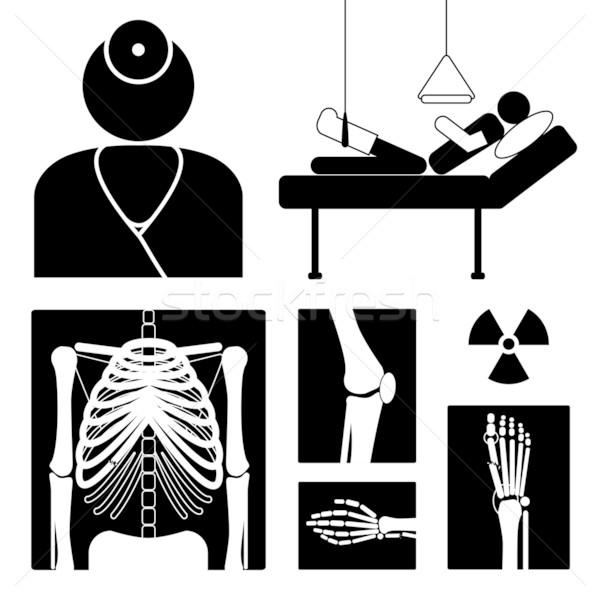 Tıbbi ikon xray resimleri doktor Stok fotoğraf © oliopi