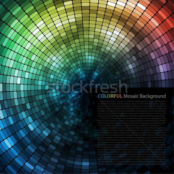 Renkli mozaik afiş uzay metin vektör Stok fotoğraf © oliopi