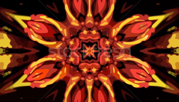 калейдоскоп вектора eps8 иллюстрация цветок свет Сток-фото © oliopi