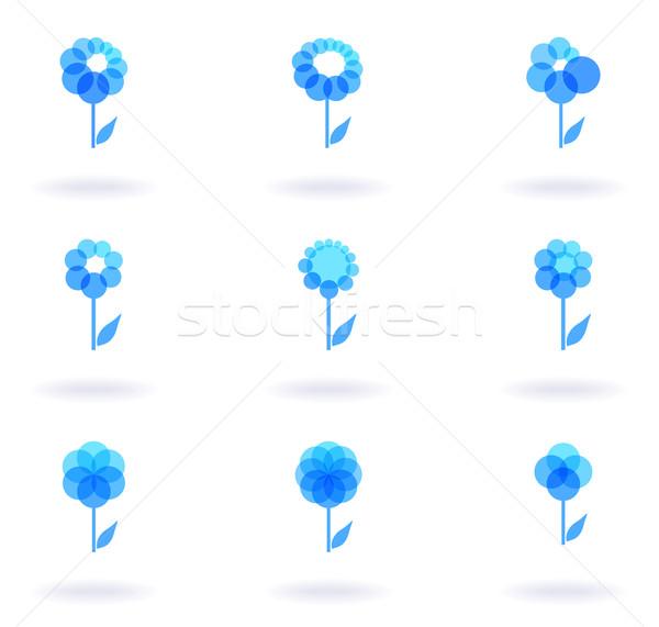Flower Icons Stock photo © oliopi