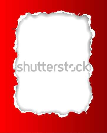 Torn Paper Frame Stock photo © oliopi