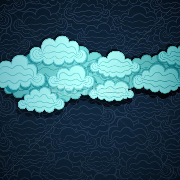 облачный небе баннер бумаги вектора eps8 Сток-фото © oliopi