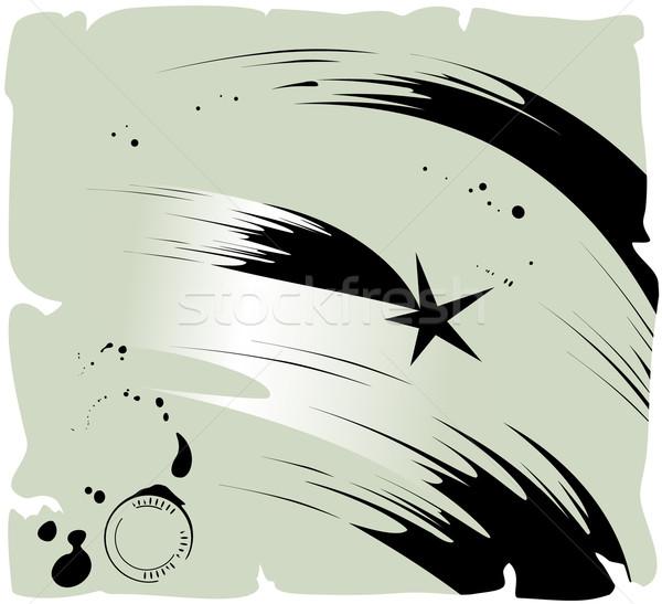 Kuyrukluyıldız vektör eps8 örnek gökyüzü Stok fotoğraf © oliopi