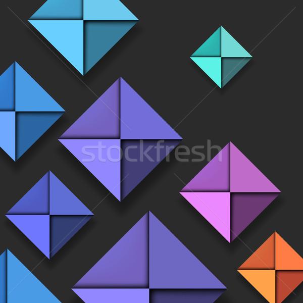 Colorful Folded Paper Background Stock photo © oliopi