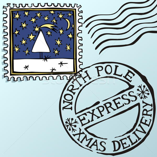 Christmas Stamps Stock photo © oliopi