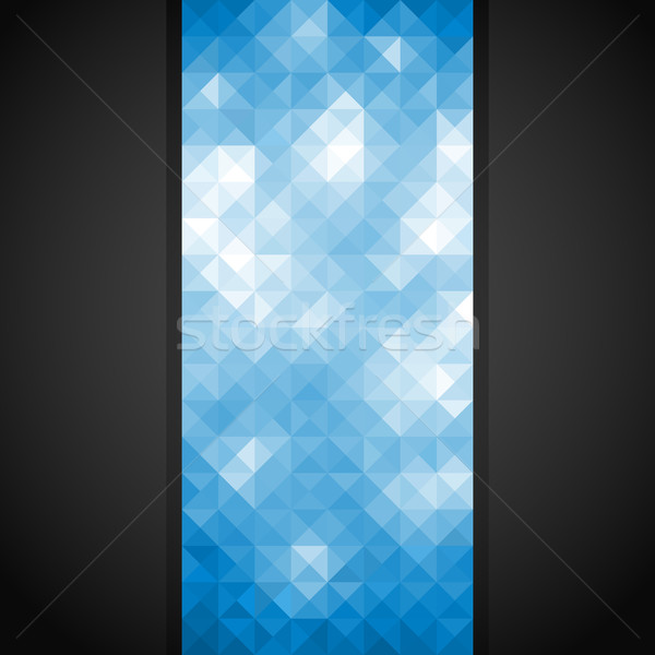 Mozaik afiş mavi parlak vektör eps8 Stok fotoğraf © oliopi