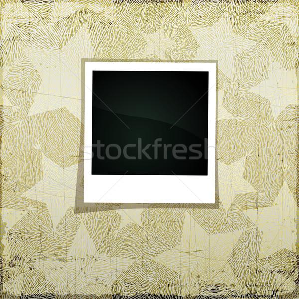 Karácsony szalag grunge scrapbook üres fényképkeret Stock fotó © oliopi