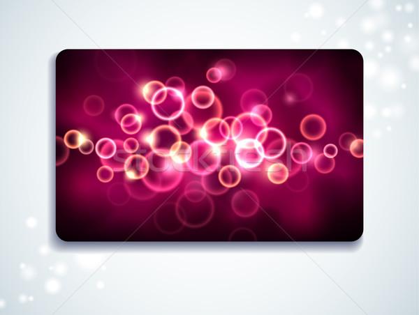 Gift card Bańka wzór papieru świetle Zdjęcia stock © oliopi