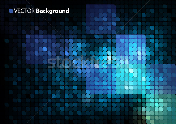 Abstract mozaiek vector ruimte tekst eps8 Stockfoto © oliopi