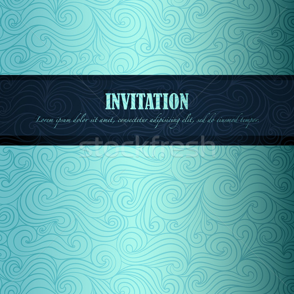 Yaz davetiye kâğıt vektör eps8 örnek Stok fotoğraf © oliopi