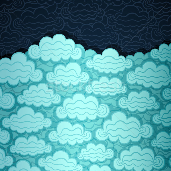Bewolkt hemel banner papier vector eps8 Stockfoto © oliopi
