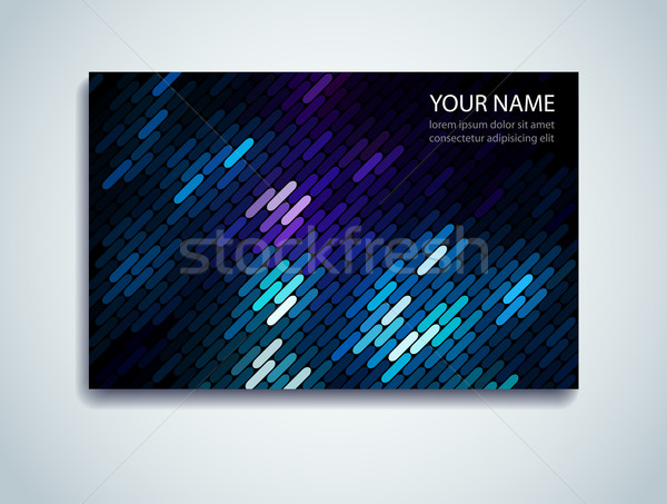 Shiny Mosaic Business Card Stock photo © oliopi