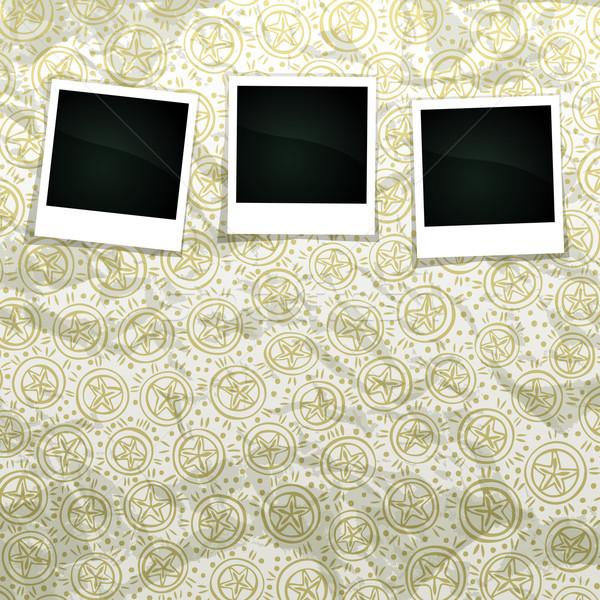 Karácsony szalag grunge scrapbook üres fotó Stock fotó © oliopi