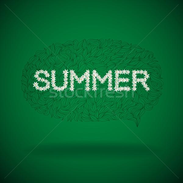 Yaz mevsimlik konuşma balonu metin vektör Stok fotoğraf © oliopi