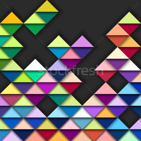 Renkli geometrik desen vektör eps10 örnek kâğıt Stok fotoğraf © oliopi