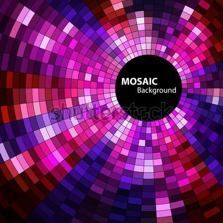 Mozaik afiş uzay metin vektör eps8 Stok fotoğraf © oliopi
