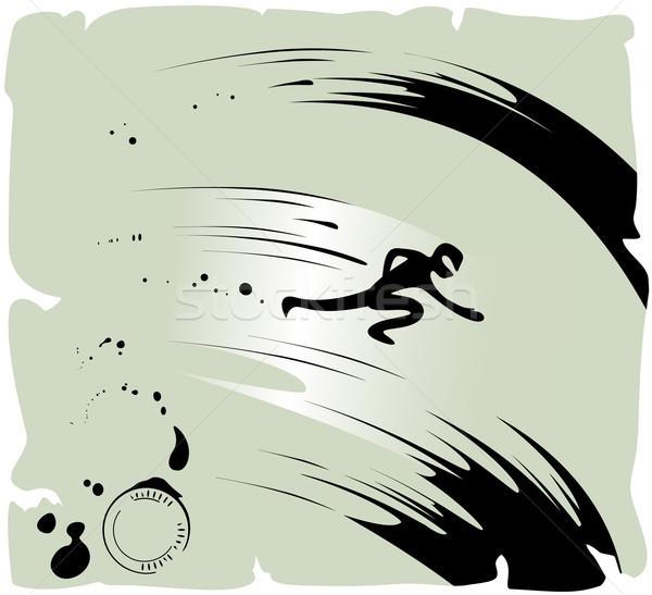 Ninja vector eps8 illustratie textuur ontwerp Stockfoto © oliopi