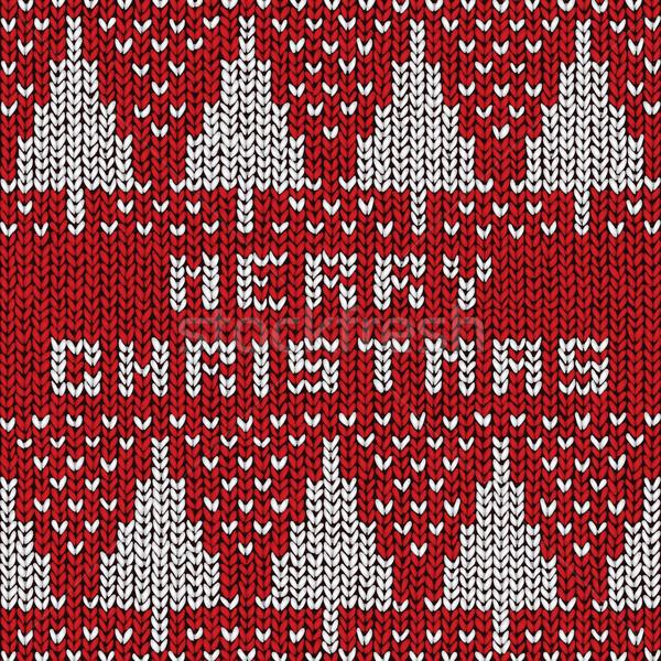 Neşeli Noel kazak vektör eps10 örnek Stok fotoğraf © oliopi