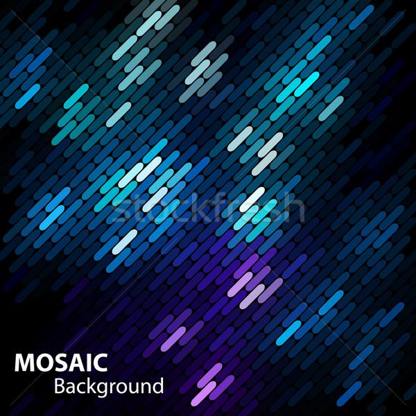 Mozaik parlak afiş uzay metin vektör Stok fotoğraf © oliopi