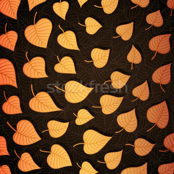 Herbstlaub Banner Papier Vektor eps8 Illustration Stock foto © oliopi