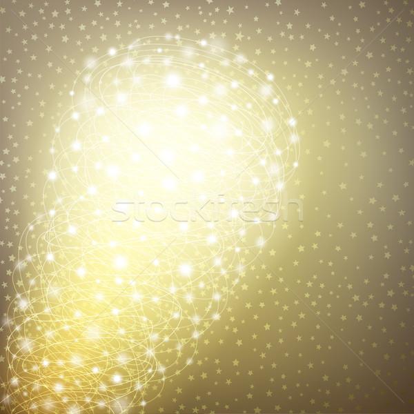 Izzó karácsony űr szöveg vektor eps10 Stock fotó © oliopi