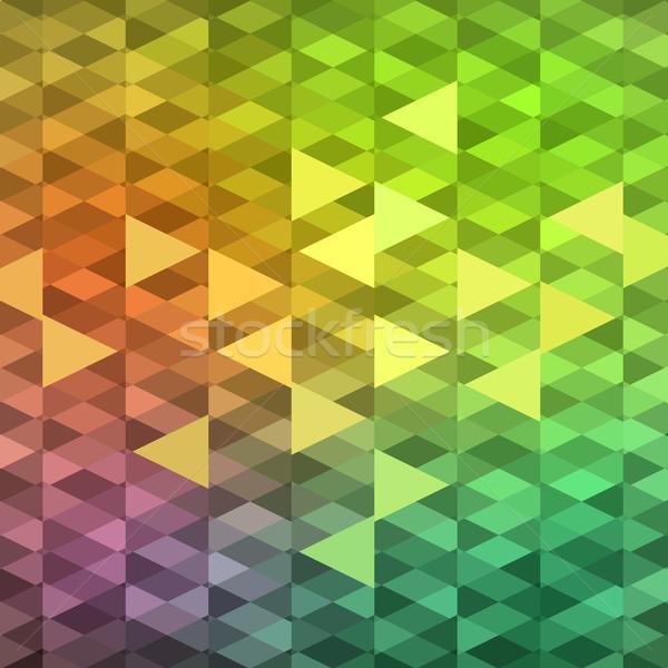 Renkli mozaik afiş canlı renkler vektör Stok fotoğraf © oliopi