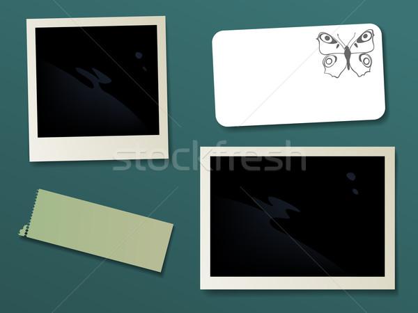 Scrapbook spazio foto testo vettore eps8 Foto d'archivio © oliopi