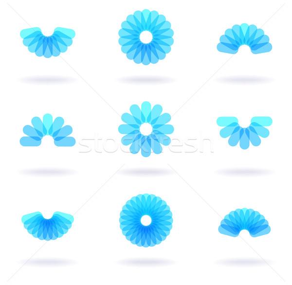 çiçek dokuz simgeler vektör eps8 Stok fotoğraf © oliopi