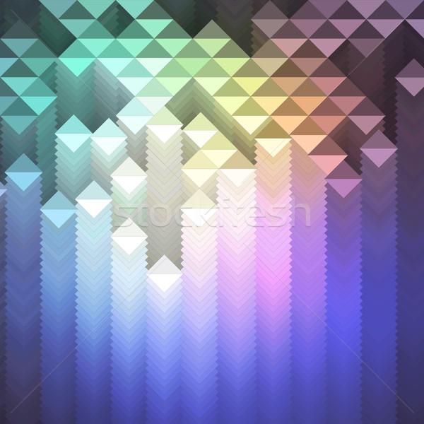 красочный мозаика геометрический шаблон вектора eps8 Сток-фото © oliopi