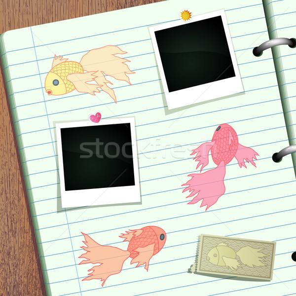 Goldfish альбом болван баннер пространстве фотографий Сток-фото © oliopi