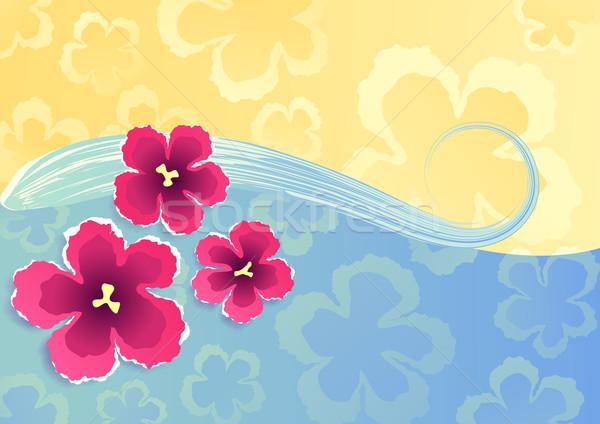 Nyár trópusi illusztráció vektor eps8 formátum Stock fotó © oliopi