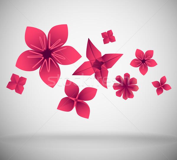 бумаги цветы аннотация розовый цветок дизайна Сток-фото © oliopi