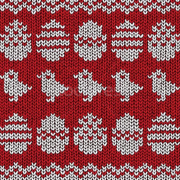 Пасху свитер шаблон вектора eps10 иллюстрация Сток-фото © oliopi