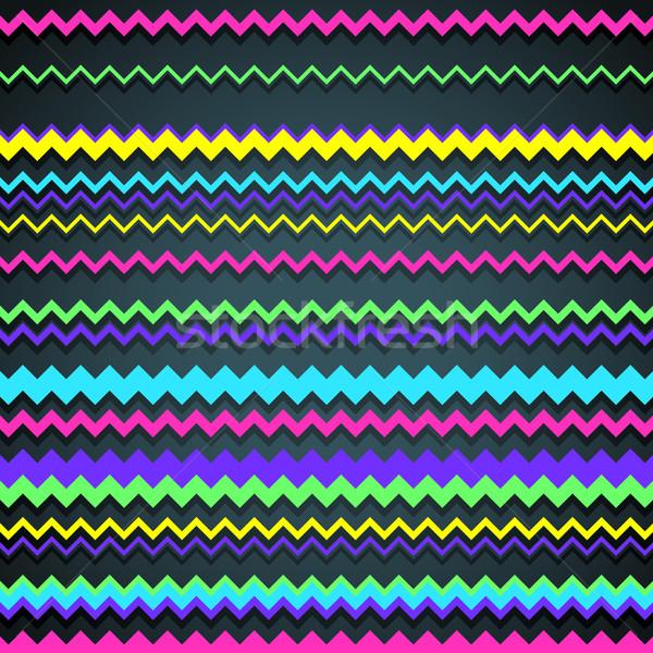 Zigzag Background Stock photo © oliopi