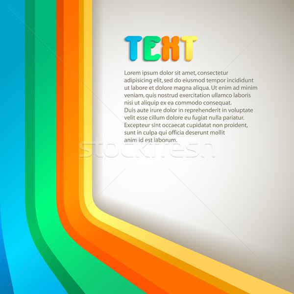 Retro afiş renkli uzay metin vektör Stok fotoğraf © oliopi