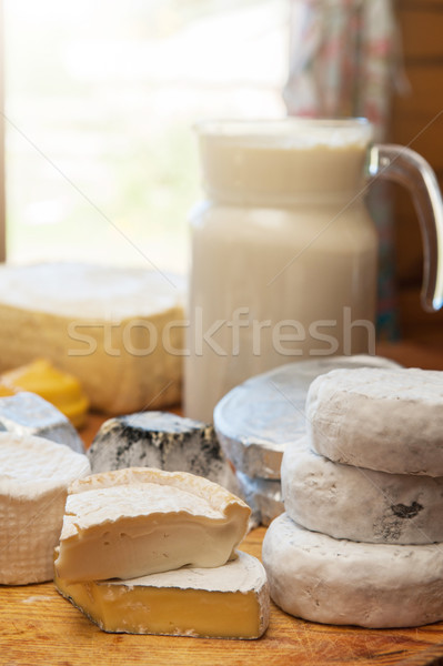 Set of different cheese Stock photo © olira