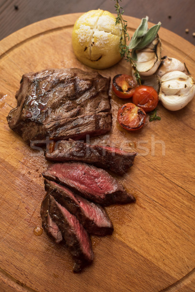 grilled beef steak Stock photo © olira