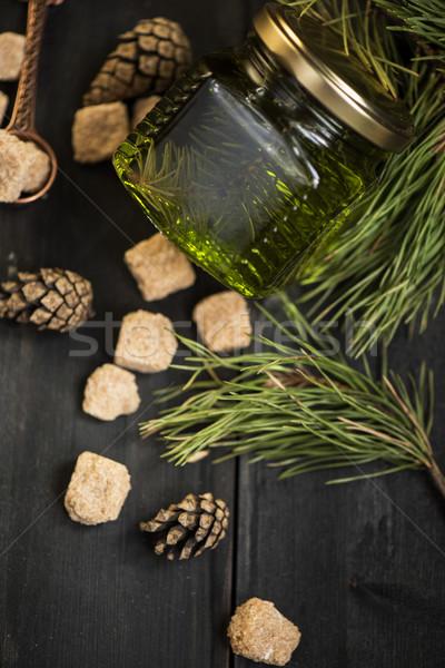 Fenyőfa dudorodás lekvár fából készült virág természet Stock fotó © olira