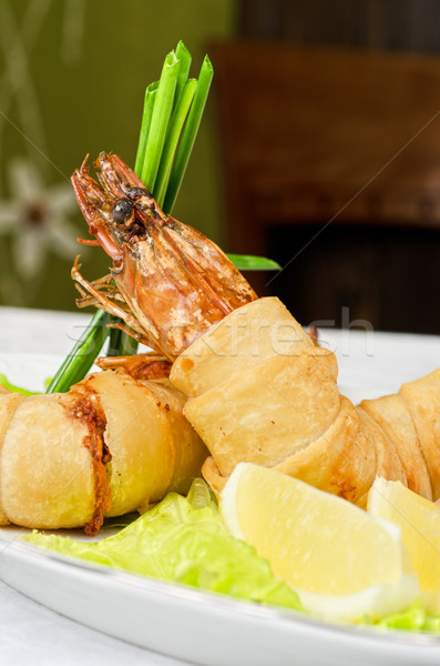 shrimps dish Stock photo © olira