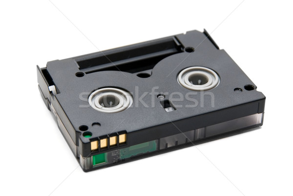 Mini közelkép izolált fehér film doboz Stock fotó © olira