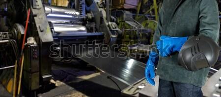 Lavoratore uomo mani industriali fabbrica mano Foto d'archivio © olira