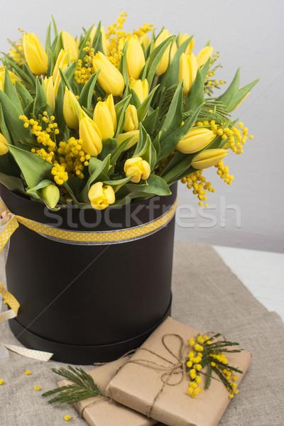 ярко весны букет тюльпаны цветы Сток-фото © olira