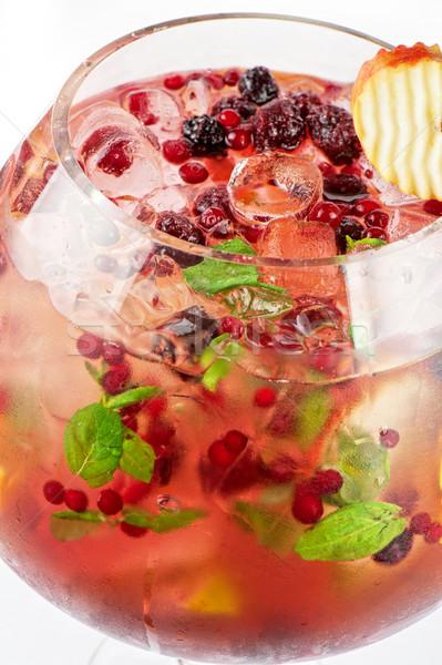 Berries and fruit cocktail Stock photo © olira