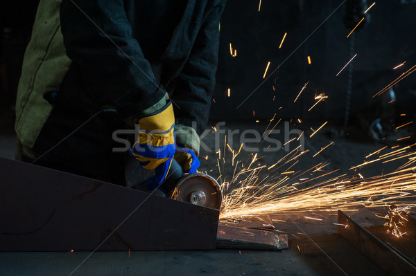 worker welding metal  Stock photo © olira